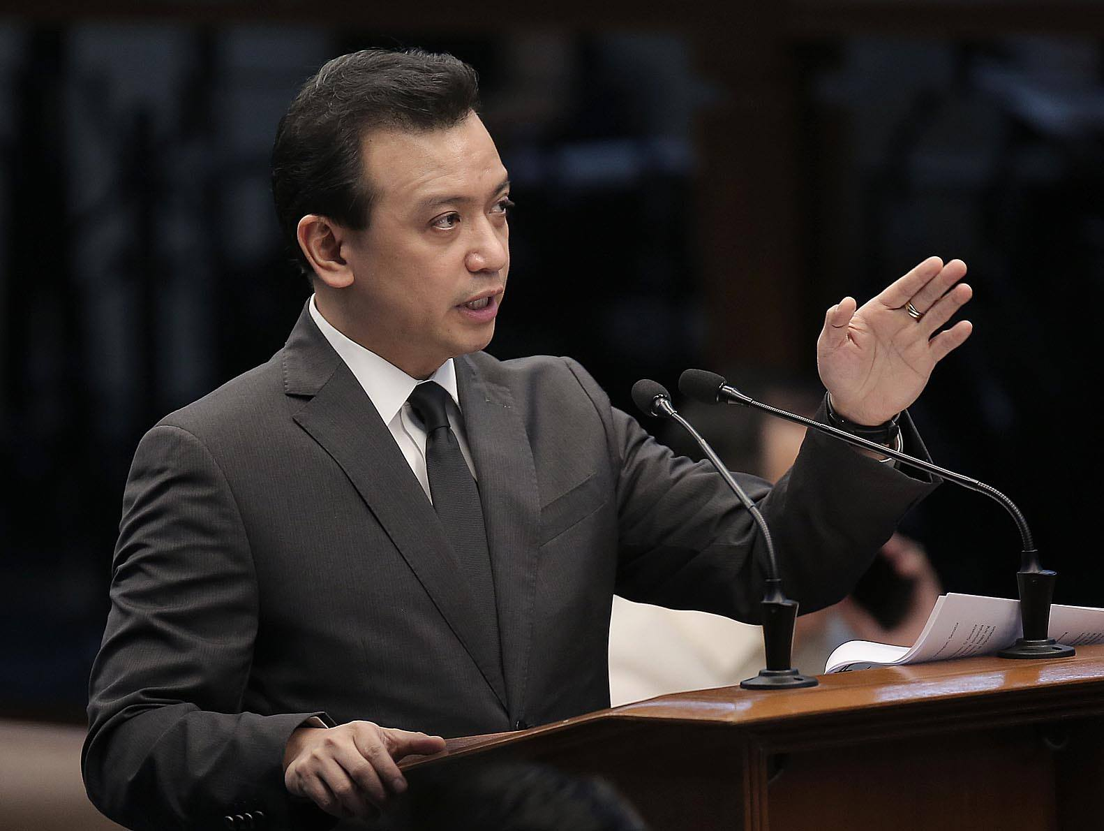 FILE: Senator Antonio Trillanes IV said he would immediately issue a bank secrecy waiver for all the foreign bank accounts that he allegedly owned to prove President Rodrigo Duterte's allegation wrong.  (Photos by Alex Nuevaespaña via Senate of the Philippines/Facebook)