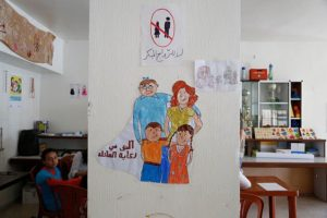 Drawings by young Syrian refugee girls in a community centre in southern Lebanon promote the prevention of child marriage. (Photo By DFID - UK Department for International Development, CC BY 2.0)