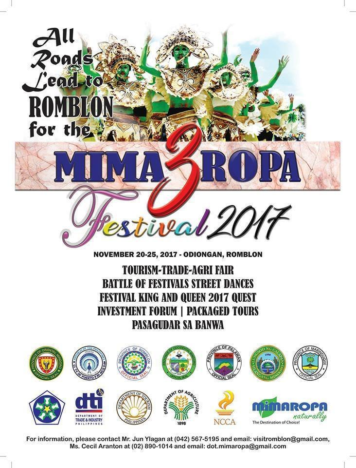 SAVE THE DATE: November 20-25, MIMAROPA Festival 2017! #MimaropaFestival2017 (Photo: Philippine Information Agency Mimaropa/Twitter)
