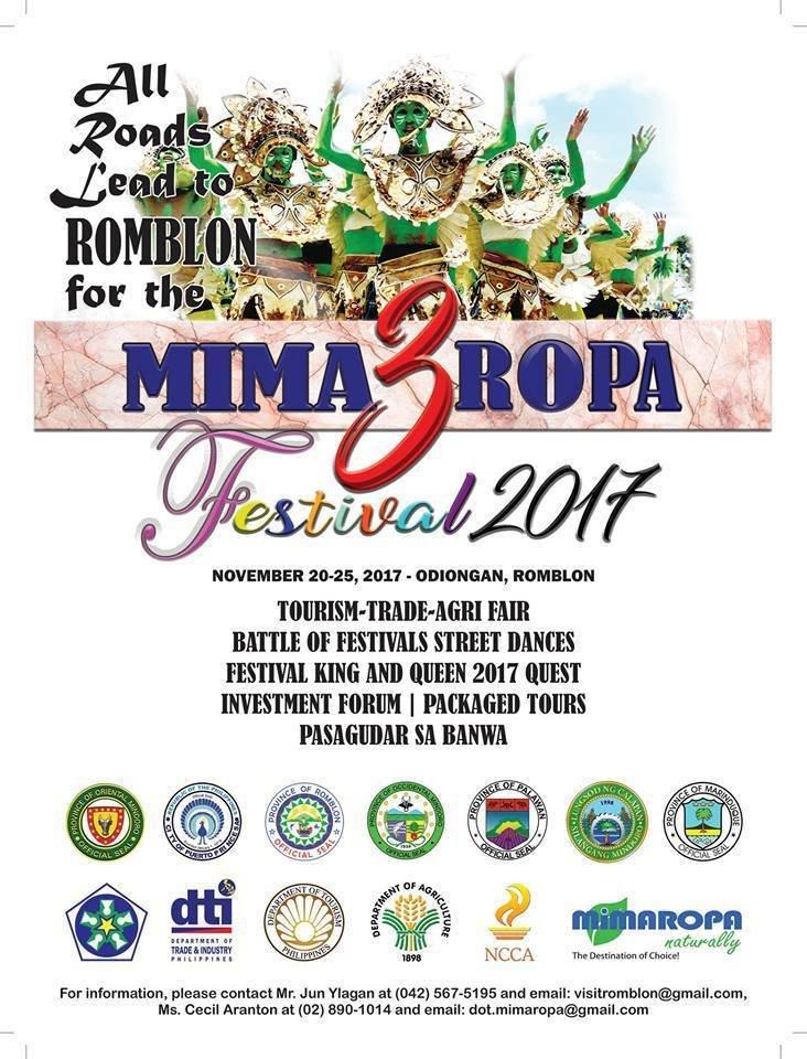 SAVE THE DATE: November 20-25, MIMAROPA Festival 2017! #MimaropaFestival2017 (Photo: Philippine Information Agency Mimaropa/Twitter)