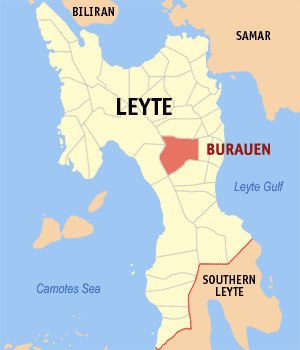 Map of Burauen, Leyte (Photo by Mike Gonzalez (TheCoffee) - English Wikipedia, CC BY-SA 3.0)
