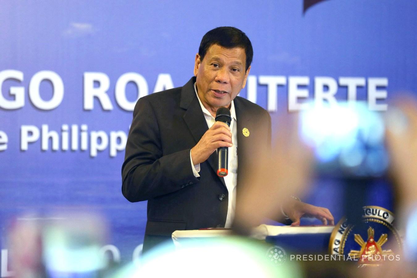 FILE: President Rodrigo Roa Duterte  KARL NORMAN ALONZO/PRESIDENTIAL PHOTO