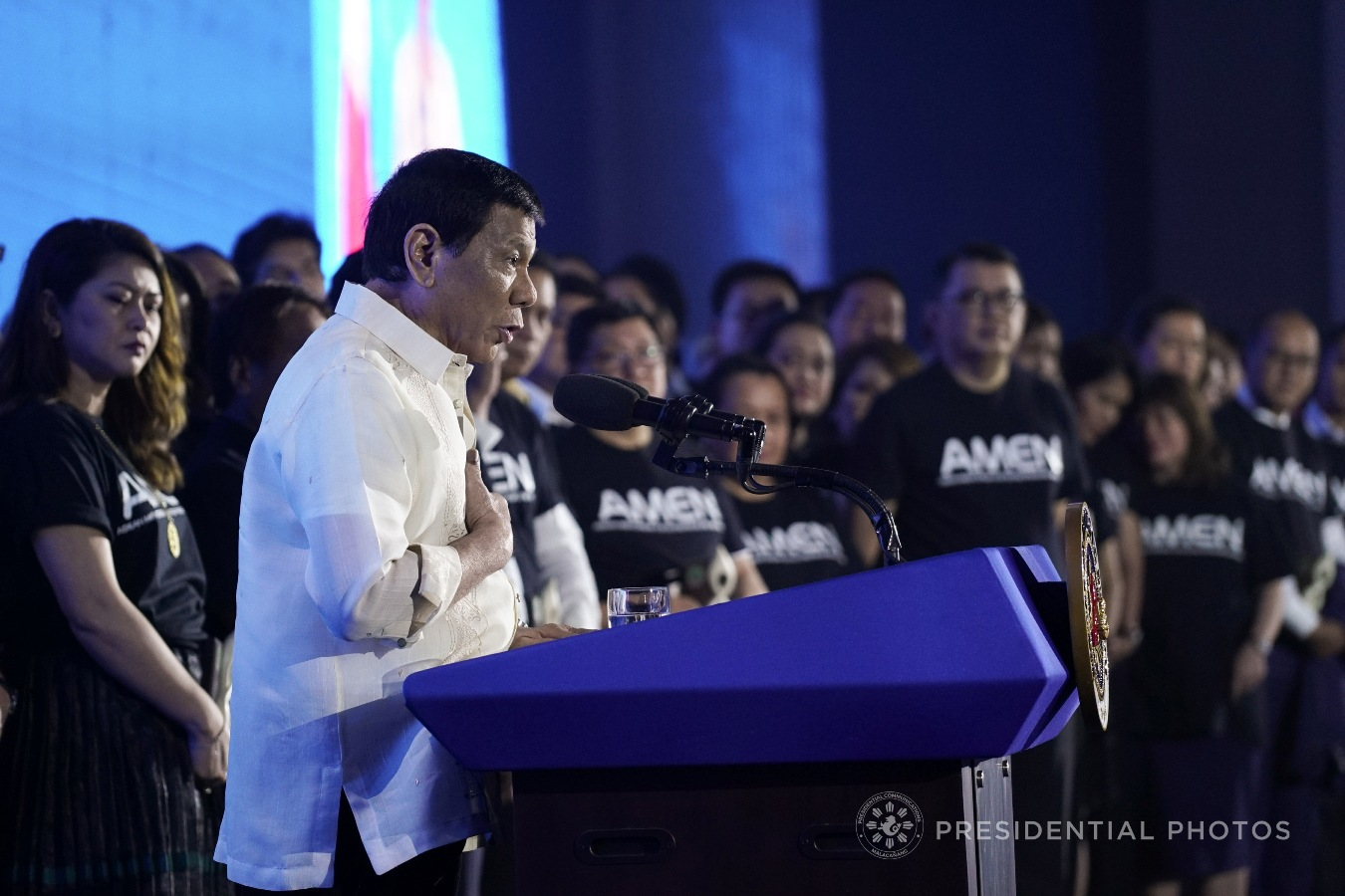 President Rodrigo Roa Duterte, in his speech during the launching of the ASEAN Mentorship for Entrepreneurs Network (AMEN) and opening of ASEAN Business and Investment Summit (ABIS) at the Solaire Grand Ballroom in Pasay City on November 12, 2017, vows to pour in support for the micro, small and medium enterprises (MSMEs) citing that they are among the biggest contributors in achieving inclusive growth in the country. KING RODRIGUEZ/PRESIDENTIAL PHOTO