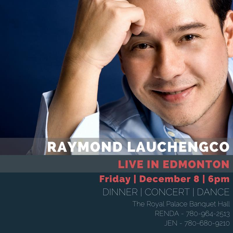 Raymond Lauchengco Live in Edmonton (Photo: Raymond Lauchengco / Facebook