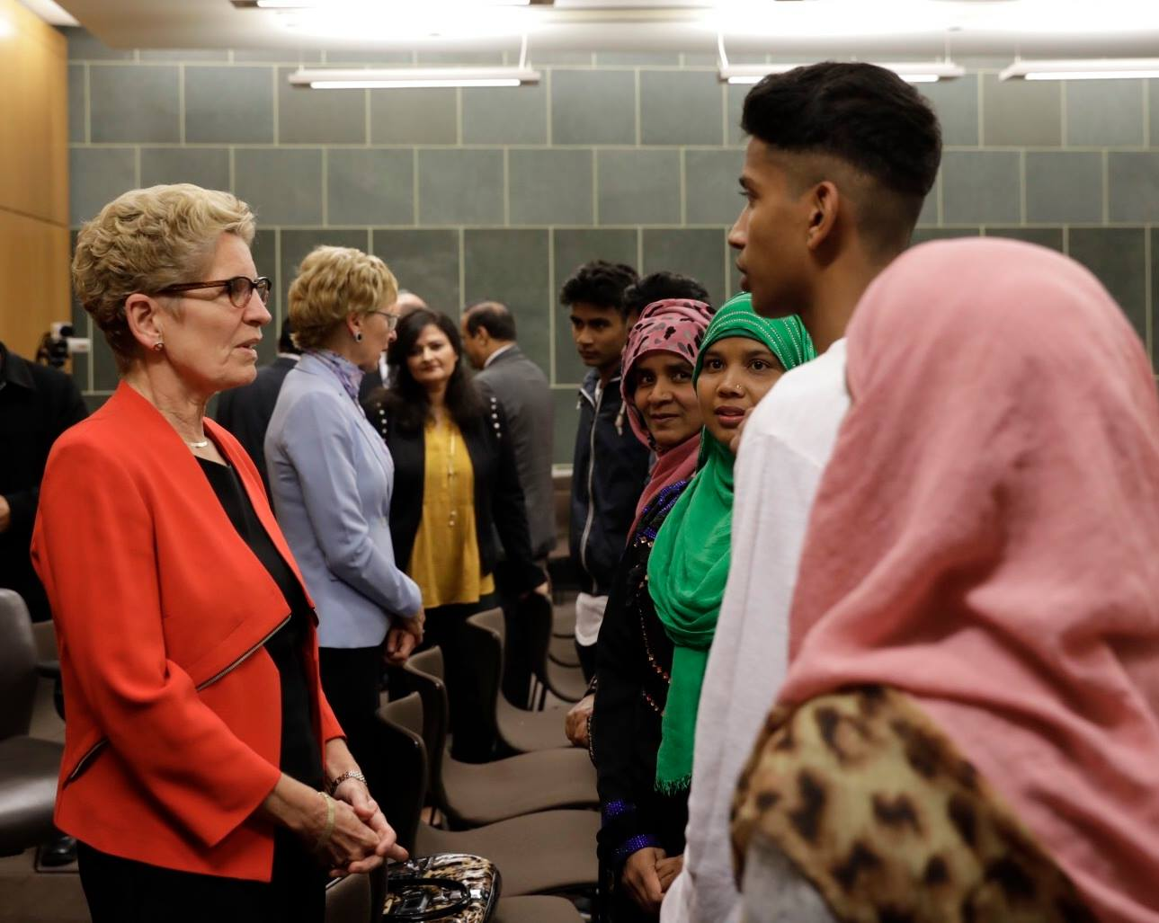 The event was the first in a series of town halls the premier is set to hold across the province to discuss fairness, a pervasive theme in her messaging this year and which will likely form a key part of her re-election platform next year. (Photo:  Kathleen Wynne/Facebook)