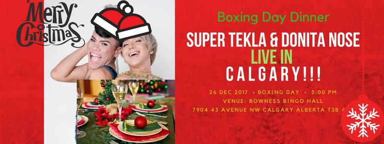 Super Tekla & Donita Nose Live in Calgary Pinas Sayang Pasko ( Photo: Alay sa Manggagawang Pilipino-Canada / Facebook)