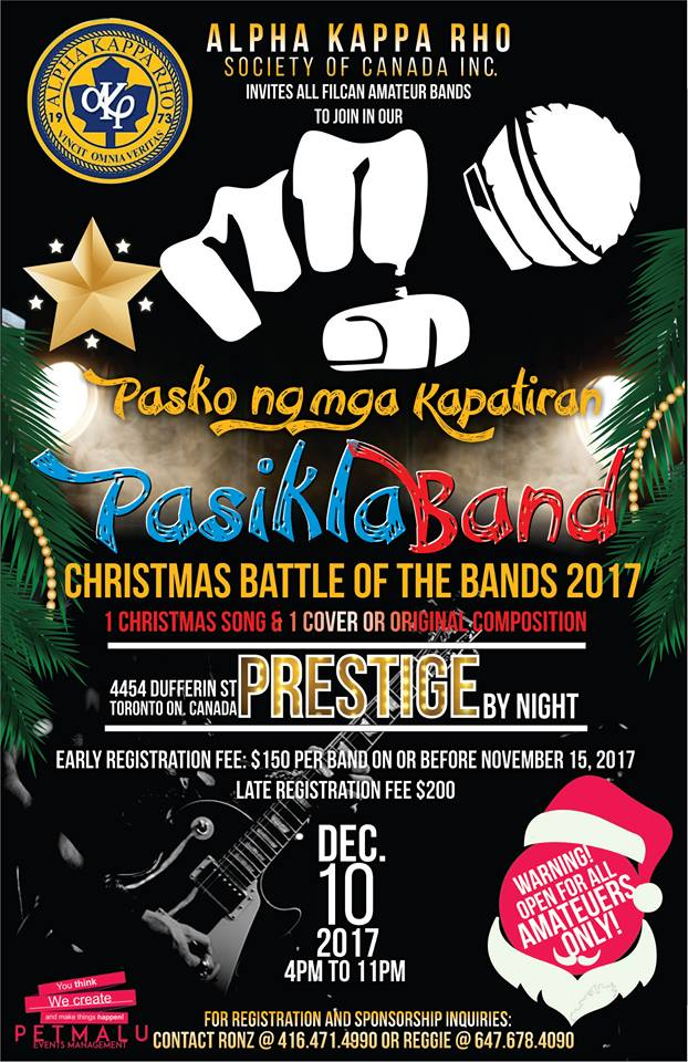 PasiklaBand | Christmas Battle of the Bands 2017 (Facebook photo)