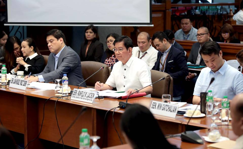 Senator Grace Poe said the fraternity was even allowed to join the UST Faculty of Civil Law freshman orientation and appear on the faculty website. (Photo: Senate of the Philippines)