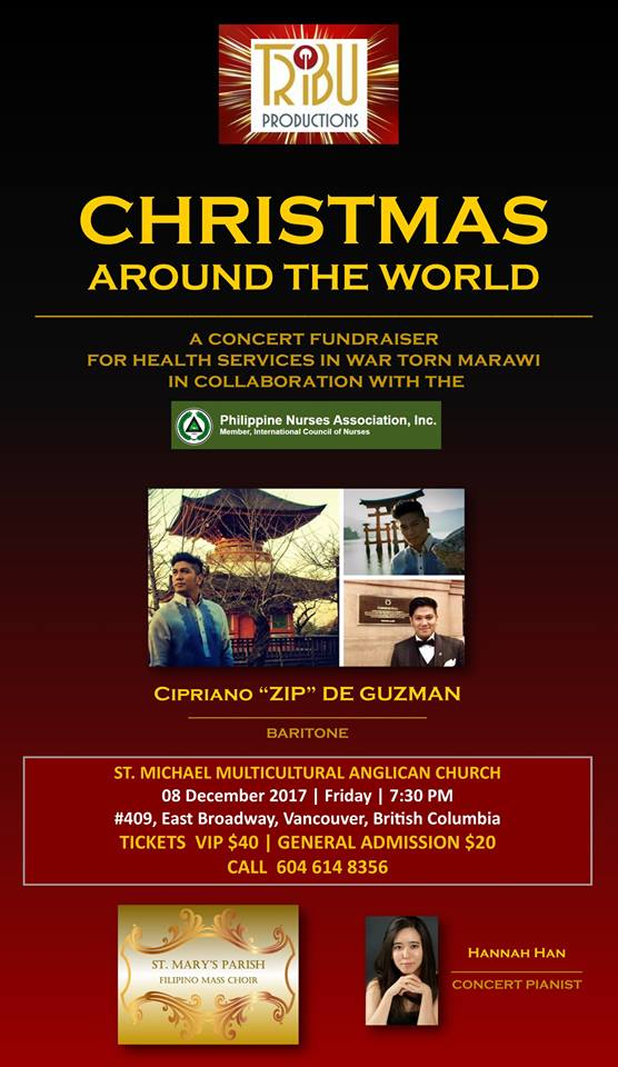 CHRISTMAS AROUND THE WORLD | A Concert Fundraiser for Health Services in War Torn Marawi ( Facebook photo)