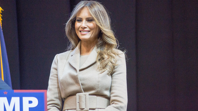 FILE: Melania Trump (Photo by Marc Nozell/Flickr, CC BY 2.0)