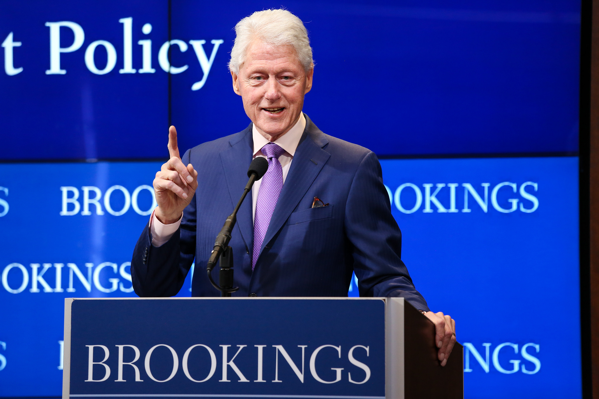 """The latest revelations have prompted a hard look back at the way Democrats and their allies once circled the wagons around President Bill Clinton, dismissing allegations that extended to serious assault as mere dalliances or the tales of """"looney"""" women. (Photo: Brookings Institution/Flickr, C BY-NC-ND 2.0)"""