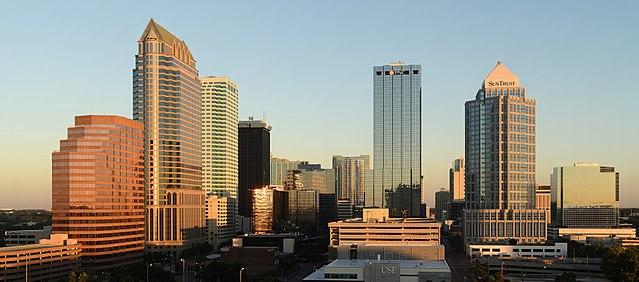 Skyline of Tampa (Photo By Alvesgaspar - Own work, CC BY-SA 3.0)