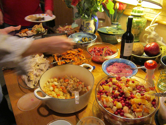Traditional Thanksgiving dinner is a big production that can benefit from rehearsal, too, say some veteran hosts. (Photo by Selena N. B. H./Flickr, CC BY 2.0)