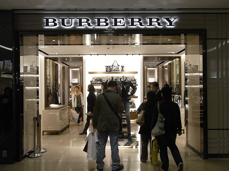 A Burberry store in Tsim Sha Tsui, Hong Kong (Photo By Mparweo - Own work, CC BY-SA 3.0)