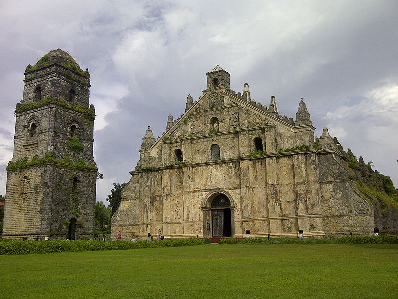 St. Augustine Church, or more popularly known as Paoay church, is one of the oldest churches. Located in Ilocos Norte (north of Philippines) The church construction was started during the early 1700s and took a century to complete. It is globally and internationally acknowledged as one of the most unique and very historical examples of Filipino architecture from the Spanish period. (Photo by Wowieology - Own work, CC BY-SA 3.0)