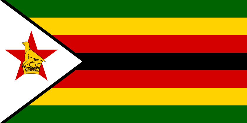 Flag of Zimbabwe (Photo By User:Madden - Own work after www.flag.de, Public Domain)