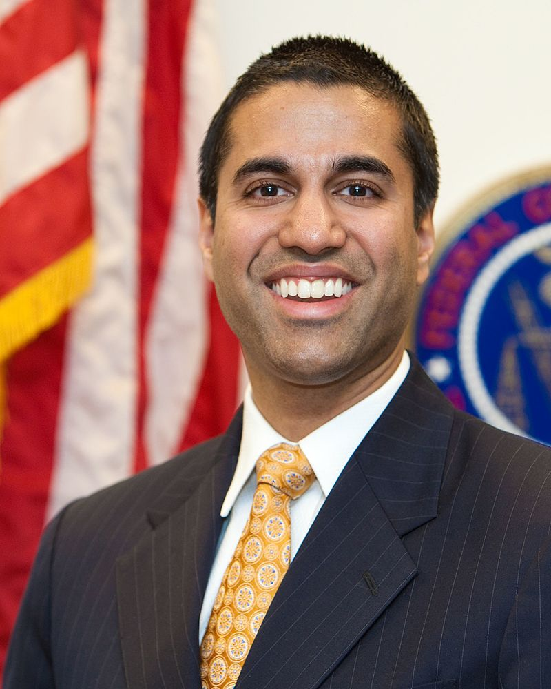 Pai distributed his alternative plan to other FCC commissioners Tuesday in preparation for a Dec. 14 vote.  (Photo By U.S. Federal Communications Commission - https://transition.fcc.gov/commissioners/photos/ppavp.jpg, Public Domain)