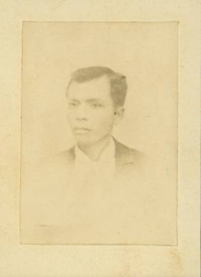 The single known extant photograph of Andres Bonifacio. Only surviving photograph of Bonifacio, founder of the Philippine revolutionary society Katipunan. (Photo By Unknown photographer - http://kasaysayan-kkk.info/gallery.kkk.htm, Public Domain)