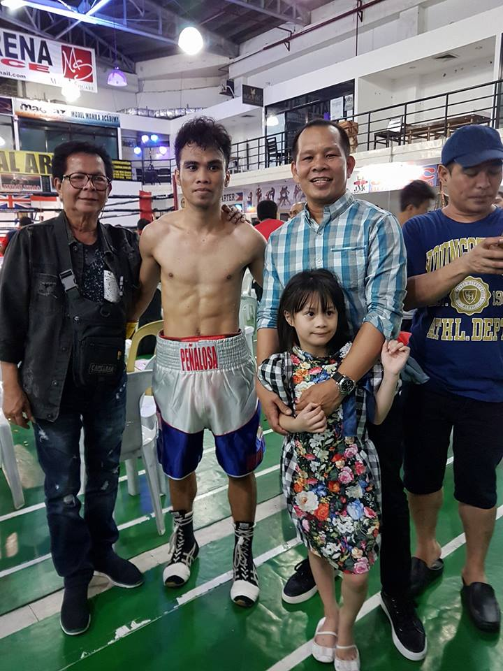 Carlo Peñalosa took home the WBC Asia silver flyweight title after subduing fellow Cebuano Salatiel Amit in the headliner of Battle of Palawan: Night of Champions at the Puerto Princesa City Coliseum on Friday night. (Photo: Penalosa Boxing Gym-Southville Las Pinas/Facebook)