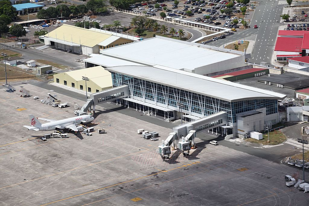 Aerial view of the Diosdado Macapagal Passenger Terminal at Clark International Airport, inside Clark Special Economic Zone in Angeles City, Pampanga. (Photo By Leila Razon - Own work, CC BY-SA 4.0)
