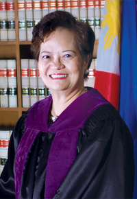 De Castro, however, opted to answer the question, saying that she was never overtaken by her feelings while working as a justice. She further said that she could not do anything with Sereno's appointment.(Photo by Supreme Court of the Philippines - http://sc.judiciary.gov.ph/aboutsc/justices/j-decastro.php, Public Domain)