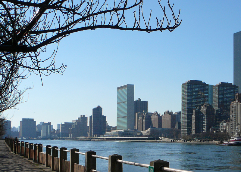 East River and UN (Roosevelt Is, NY; Dec 2006)  (Photo By mksfly - originally posted to Flickr as East River and UN, CC BY-SA 2.0)