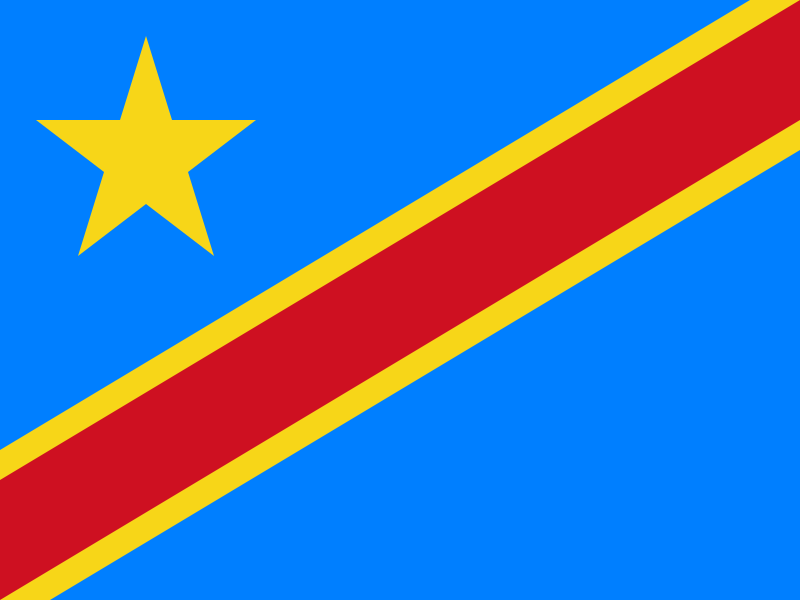 Flag of the Democratic Republic of the Congo (Photo by Nightstallion - Own work, Public Domain)
