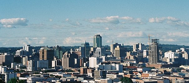 Skyline of Harare, Capital of Zimbabwe (Photo By User:Macvivo, CC BY-SA 3.0)