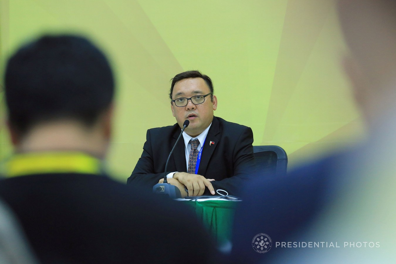 FILE: Following the termination of peace talks between the Philippine government and the Communist Party of the Philippines-New People's Army-National Democratic Front (CPP-NPA-NDF), Presidential Spokesperson Harry Roque on Tuesday reiterated that the ball is now in the Left's court for any possible revival of negotiations. (PCOO PHOTO)