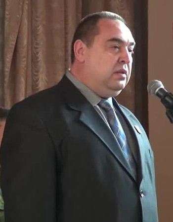 Ihor Plotnytskiy, head of the Luhansk Peoples Republic (disputed/unrecognized territory) of Eastern Ukraine, in December 2014. (Photo By Телевидение «Суть времени — ДНР This file has been extracted from another file: СВ-ДНР-295. Открытие Луганского Республиканского Кадетского корпуса.ogvPlay media, CC BY 3.0)