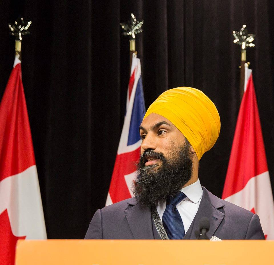 — NDP Leader Jagmeet Singh says the requirement that Supreme Court judges be functionally bilingual should be waived in the case of Indigenous candidates for appointment to the country's top court. (Photo: Jagmeet Singh/Facebook)