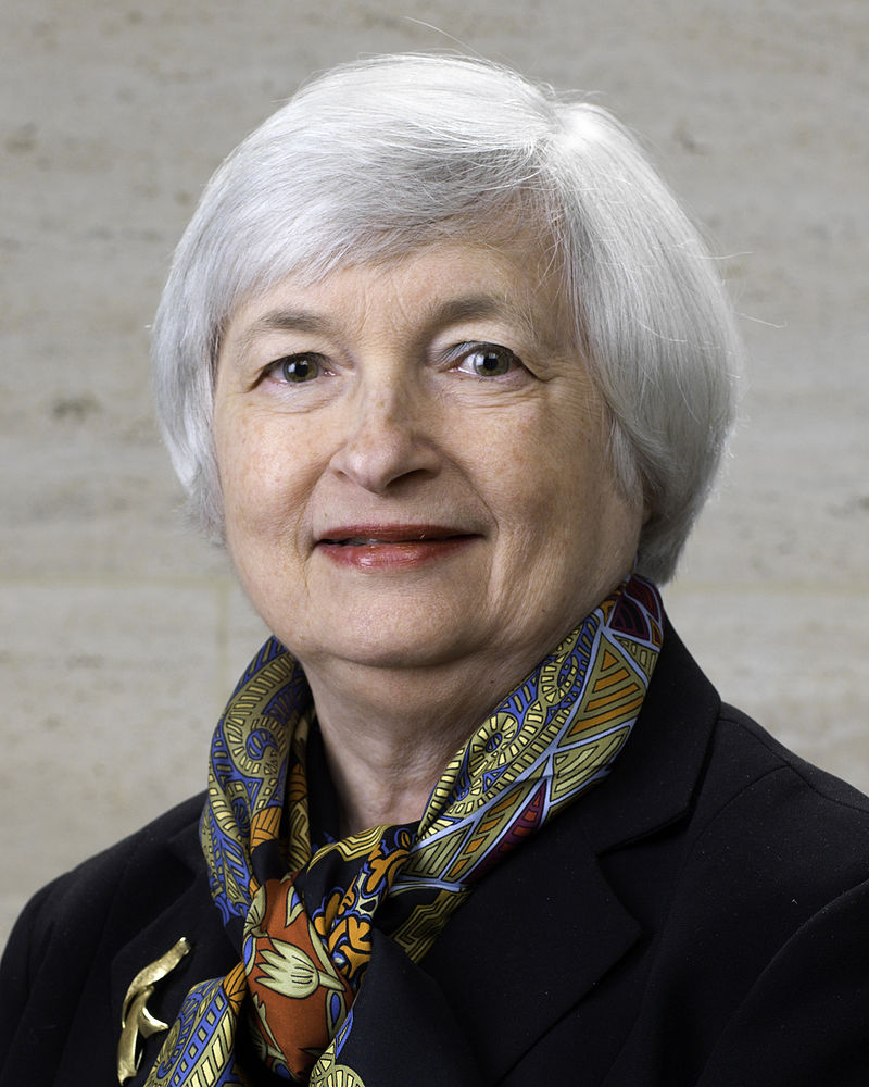 Janet Yellen (Photo by United States Federal Reserve - http://www.federalreserve.gov/aboutthefed/bios/board/yellen_janet_rdax_161x201.jpg, Public Domain)