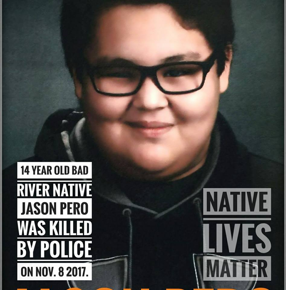 An Ashland County sheriff's deputy shot 14-year-old Jason Pero outside the boy's home on Wednesday after the teenager approached the deputy with a large butcher knife and refused numerous commands to drop it, according to the Wisconsin Department of Justice.  (Photo: Native Lives Matter/Facebook)