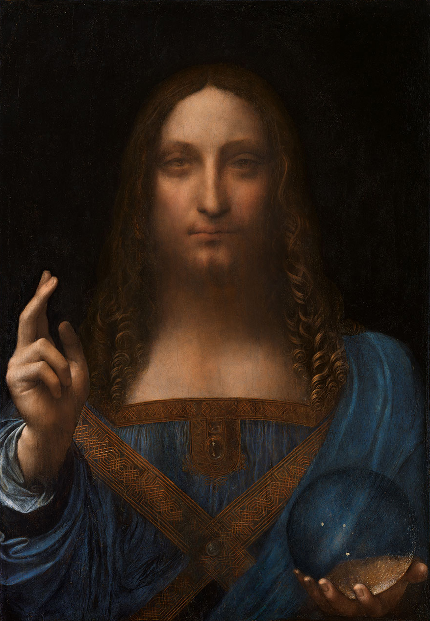 """The 500-year-old oil painting depicting Christ holding a crystal orb, called """"Salvator Mundi"""" or """"Savior of the World,"""" is one of fewer than 20 paintings by Leonardo da Vinci known to exist, according to Christie's, the auction house conducting the sale. (Photo By attributed to Leonardo da Vinci - [1], Public Domain)"""