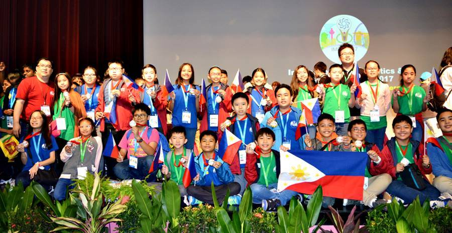 The Philippine team bagged 2 gold, 5 silver and 4 bronze medals in the math division, and 8 silver and 4 bronze medals in science. (Photo Mathematics Trainers Guild Philippines)