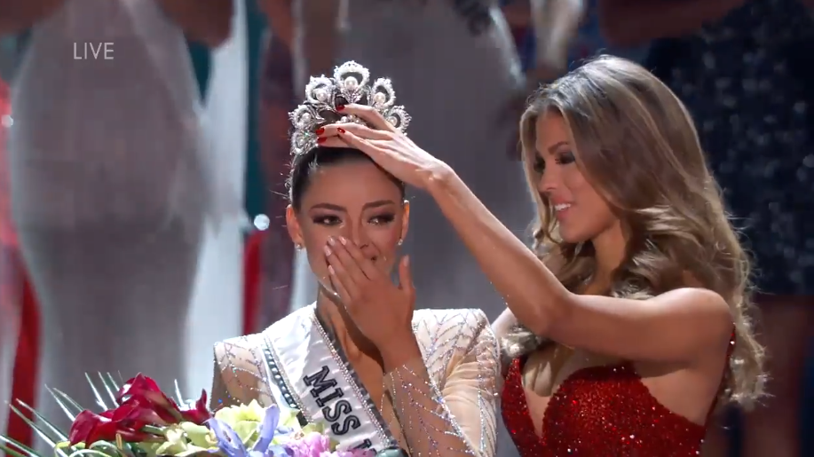 The woman representing South Africa won the Miss Universe crown Sunday. Demi-Leigh Nel-Peters, who recently earned a business management degree, was crowned during the event at The AXIS theatre at Planet Hollywood casino-resort on the Las Vegas Strip. (Screenshot of a Miss Universe video)