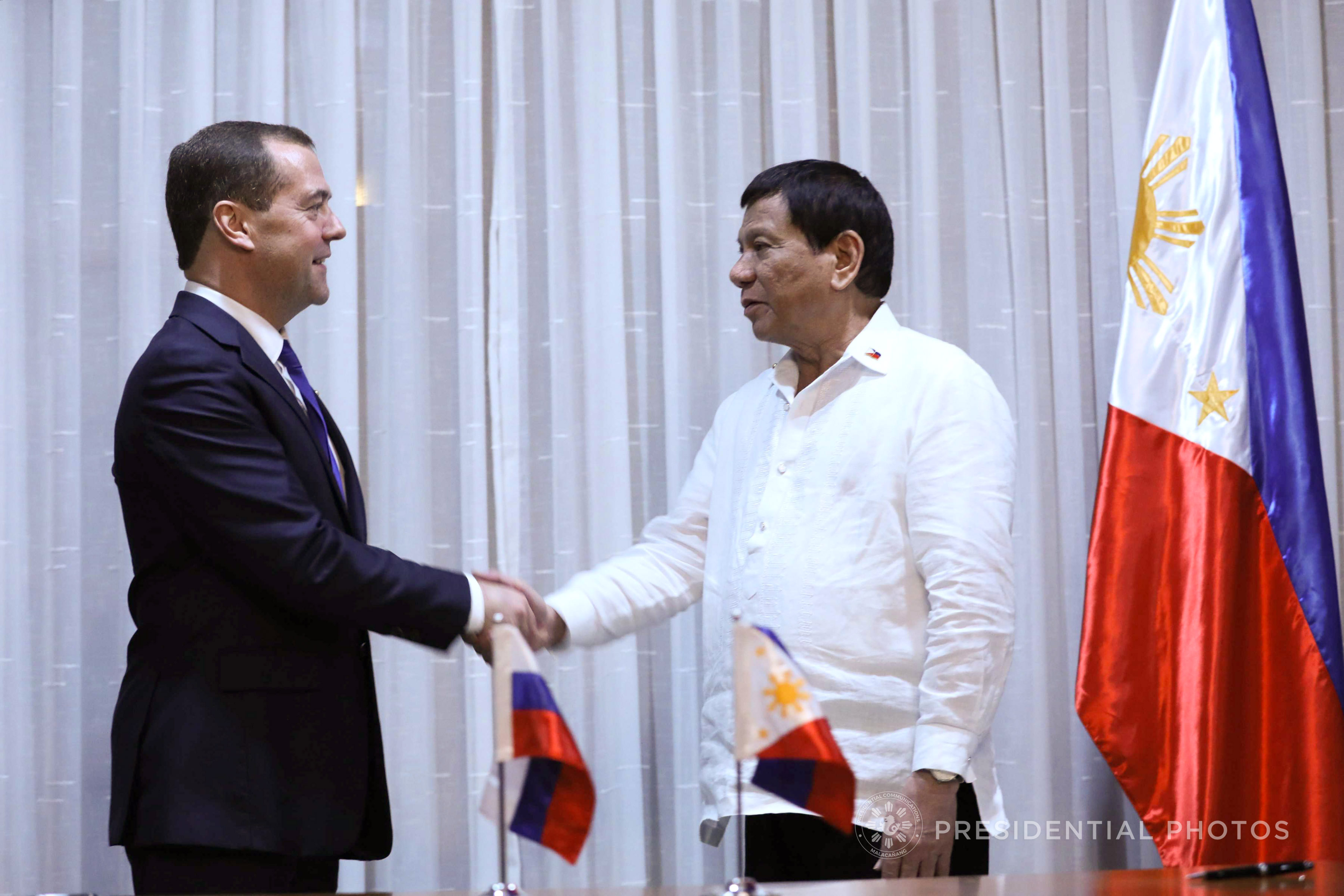 Russian Federation ready to 'expand ties' with PH, Medvedev tells Duterte