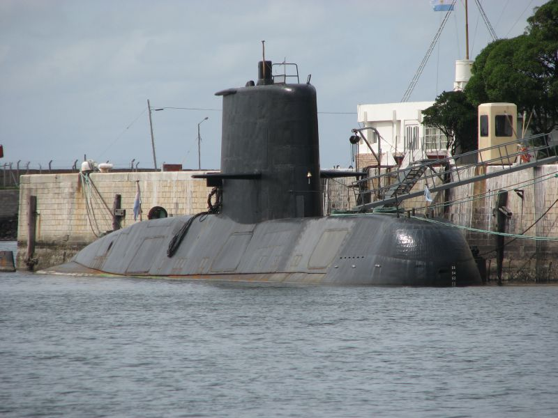 "Submarine TR-1700 (S-42) ARA ""San Juan"" (Photo By Martin Otero - Naval Base Mar del Plata, CC BY 2.5)"
