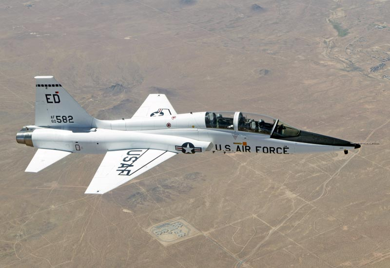T-38 Talon over Edwards AFB (Photo By U.S. Department of Defense - Defense.gov, Public Domain)