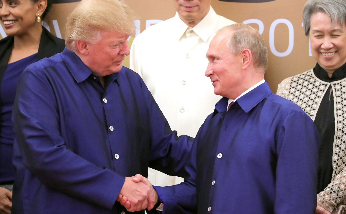 FILE: Trump and Putin spoke informally several times earlier this month when they attended a summit in Vietnam. They agreed on a number of principles for the future of Syria.(Photo: Vladimir Putin/Twitter)