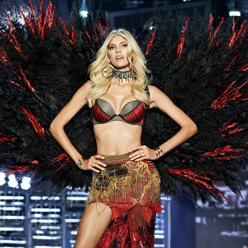 Last week's Victoria's Secret fashion show in Shanghai featured models wearing Indigenous inspired regalia, including feathered headdresses. (Photo: Victoria's Secret/Facebook)
