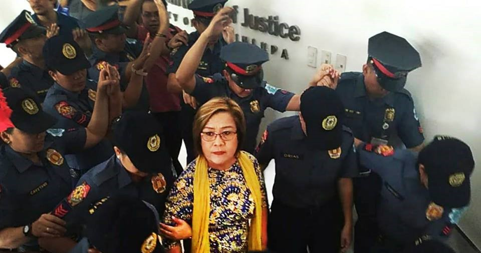 FILE: The detained senator's case has been re-raffled after Muntinlupa RTC Branch 204 Judge Juanita Guerrero inhibited herself from the case on January 4 following a plea from De Lima. (Photo: Leila de Lima/Facebook)