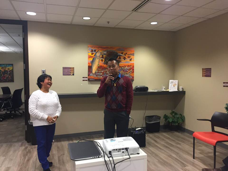 Sharing more experiences WE past escapees: 2017 Shirley Anir Almazar-Bui, 2016 escapee Joel Castillo.
