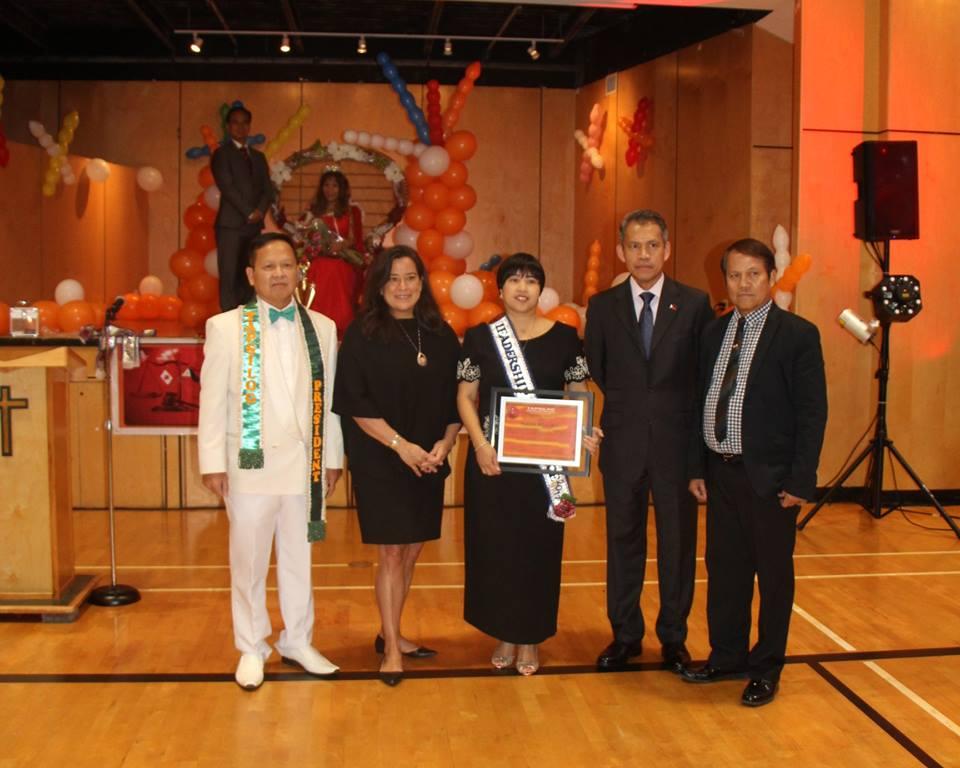 Narima Dela Cruz, Leadership Excellence awardee for 2017
