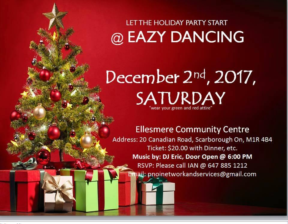 Let the Holiday Party Start at Eazy Dancing!!! (Facebook photo)