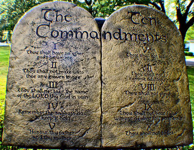 An Arkansas commission cleared the way Tuesday for the installation of another Ten Commandments monument outside the state capitol. (Photo by George Bannister/Flickr, CC BY 2.0)