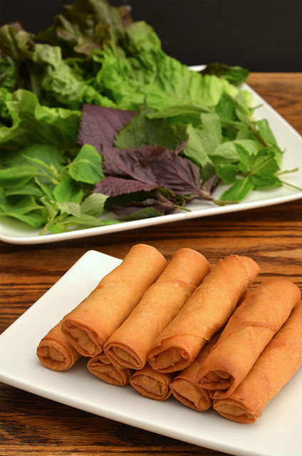 This Vegetable Spring Rolls recipe is packed full of these super-vegetables, which means it's also full of antioxidants; fiber; vitamins C, E, and K; and folate.  (Photo by Huyzee Vu/Flickr, CC BY 2.0)