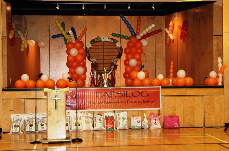 Stage set-up by Remie, Agnes, Nora, et al..