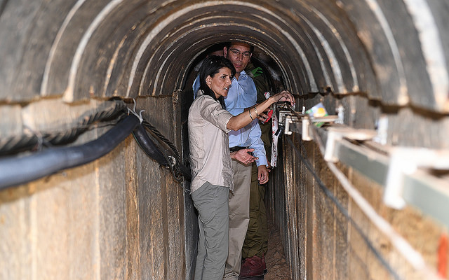 The Israeli military says it has destroyed a tunnel built by the Hamas militant group that stretched from the Gaza Strip several hundred meters (yards) into Israel. (Photo by U.S. Embassy Tel Aviv/Flickr, CC BY 2.0)