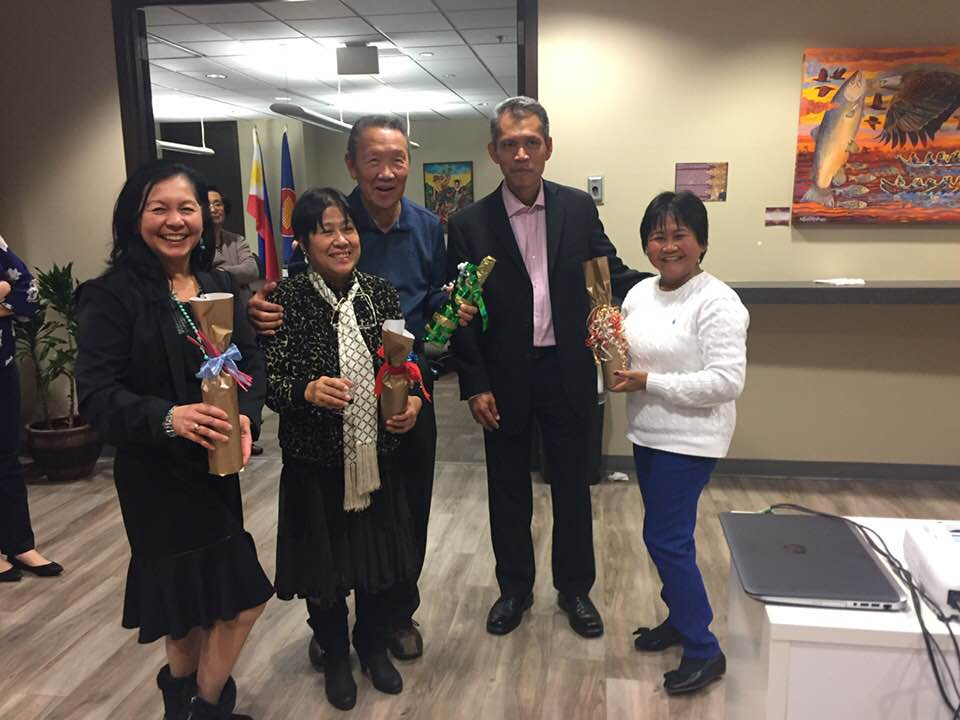 WE wine raffle winners donated by the PCG Marilou Maclang-Yodogawa, Carmelita Salonga Tapia, Fred Narciso, ConGen Neil Ferrer, , Shirley Anir Almazar-Bui.